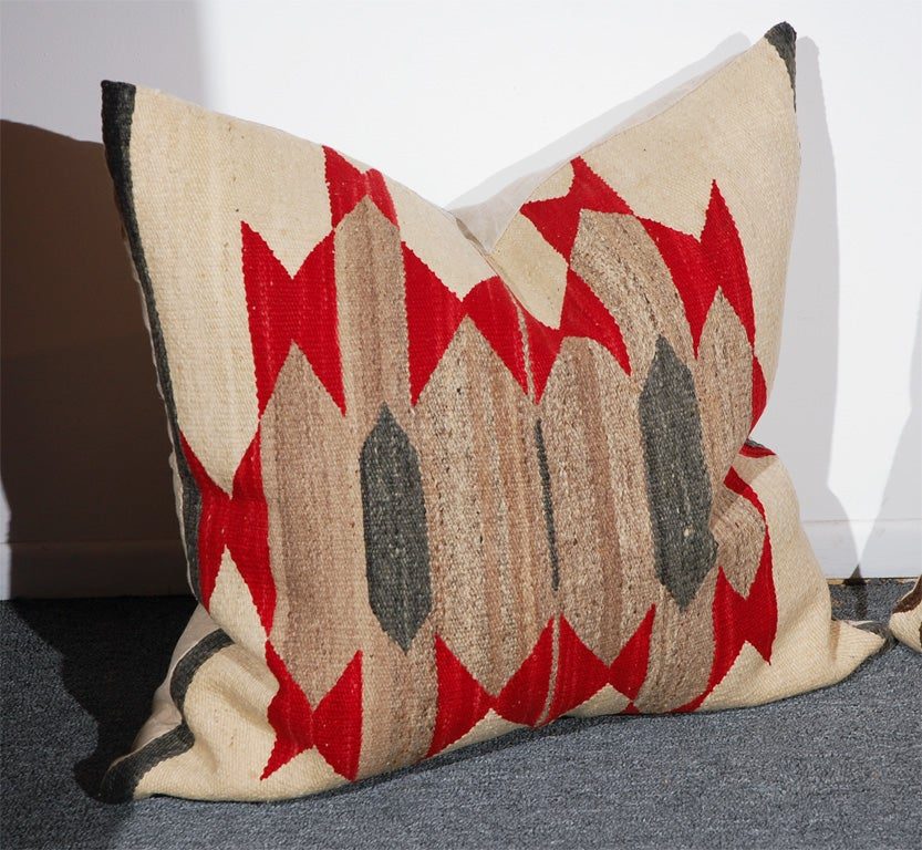 LARGE AUTHENTIC NAVAJO INDIAN WEAVING PILLOWS/CIRCA1920'S 2