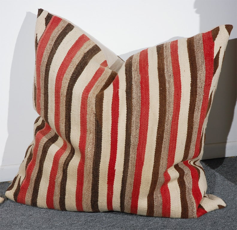 LARGE AUTHENTIC NAVAJO INDIAN WEAVING PILLOWS/CIRCA1920'S 3