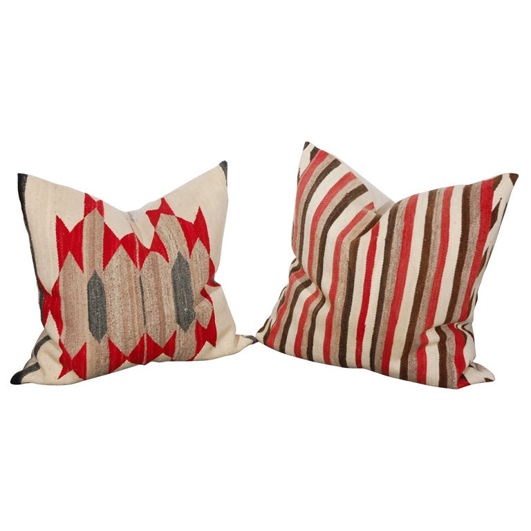 Large Authentic Navajo Indian Weaving Pillows Circa1920 S