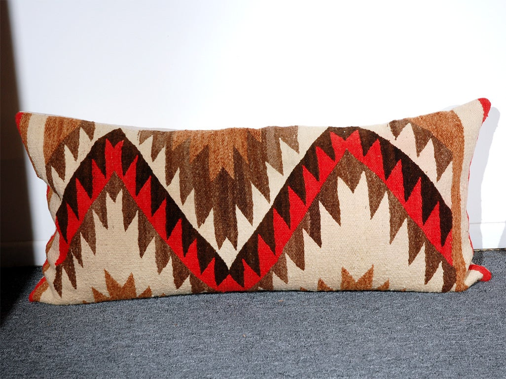 LARGE AUTHENTIC NAVAJO INDIAN WEAVING BOLSTER PILLOWS 2