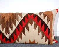 LARGE AUTHENTIC NAVAJO INDIAN WEAVING BOLSTER PILLOWS image 3