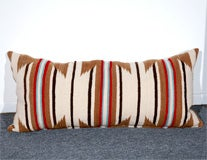 LARGE AUTHENTIC NAVAJO INDIAN WEAVING BOLSTER PILLOWS image 4