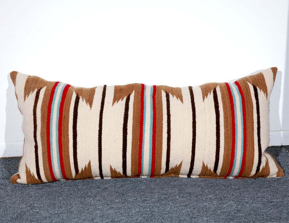 LARGE AUTHENTIC NAVAJO INDIAN WEAVING BOLSTER PILLOWS 4
