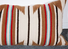 LARGE AUTHENTIC NAVAJO INDIAN WEAVING BOLSTER PILLOWS image 5