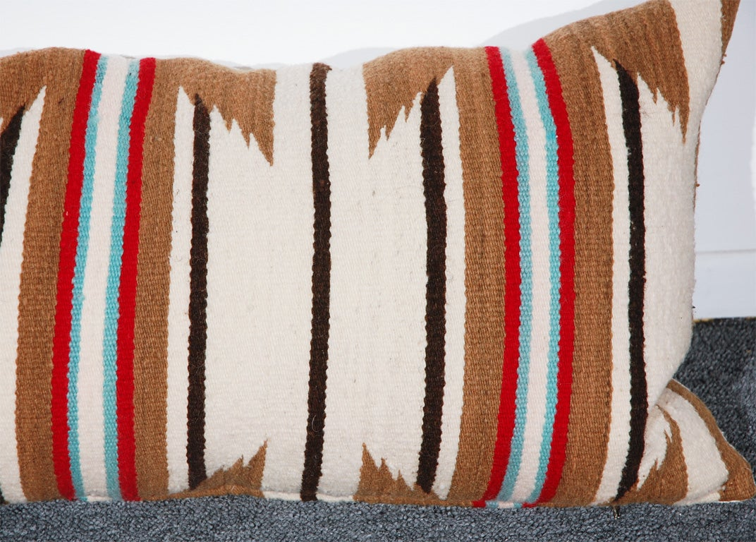 LARGE AUTHENTIC NAVAJO INDIAN WEAVING BOLSTER PILLOWS 5