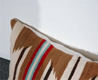 LARGE AUTHENTIC NAVAJO INDIAN WEAVING BOLSTER PILLOWS image 6