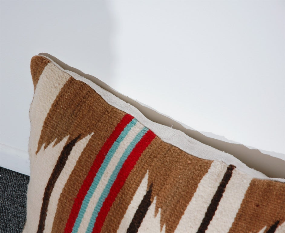 LARGE AUTHENTIC NAVAJO INDIAN WEAVING BOLSTER PILLOWS 6