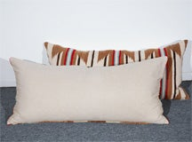 LARGE AUTHENTIC NAVAJO INDIAN WEAVING BOLSTER PILLOWS image 7