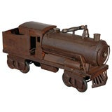 EARLY 20THC PENNSYLVANIA RAILROAD STEAM ENGINE TIN TOY TRAIN