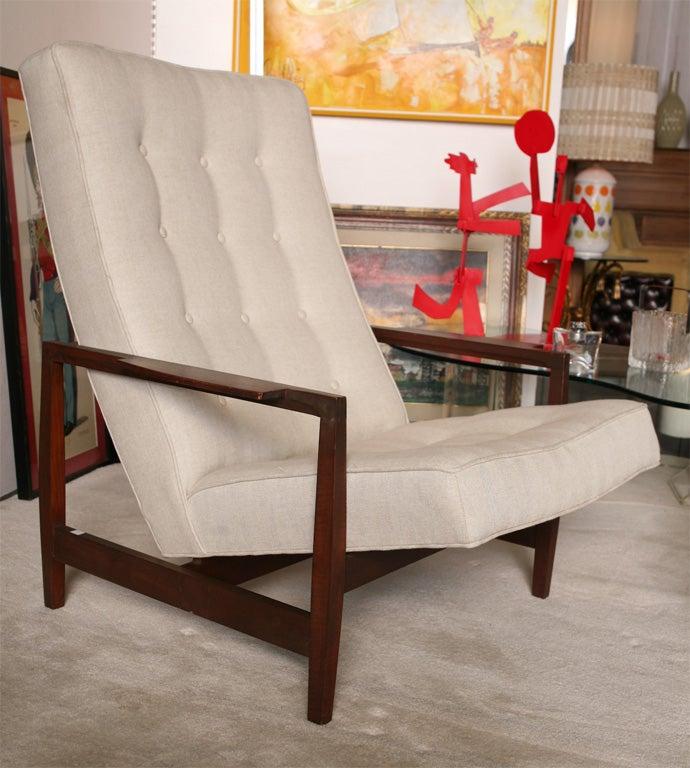 Danish Teak Chair with Ottoman 1