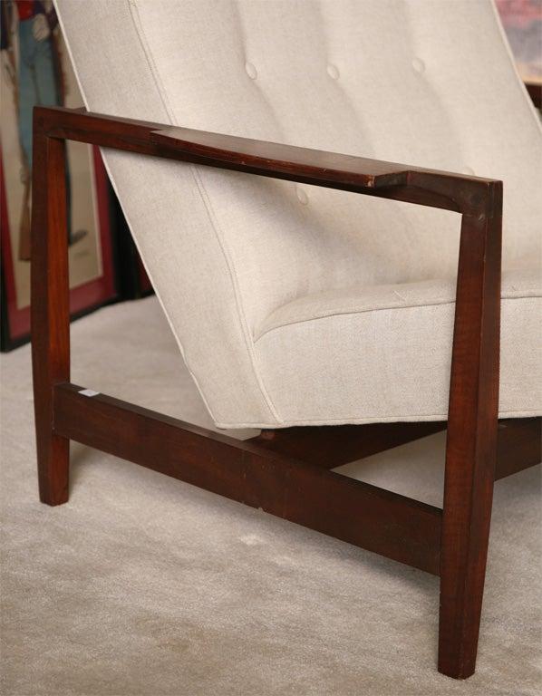 Danish Teak Chair with Ottoman 2