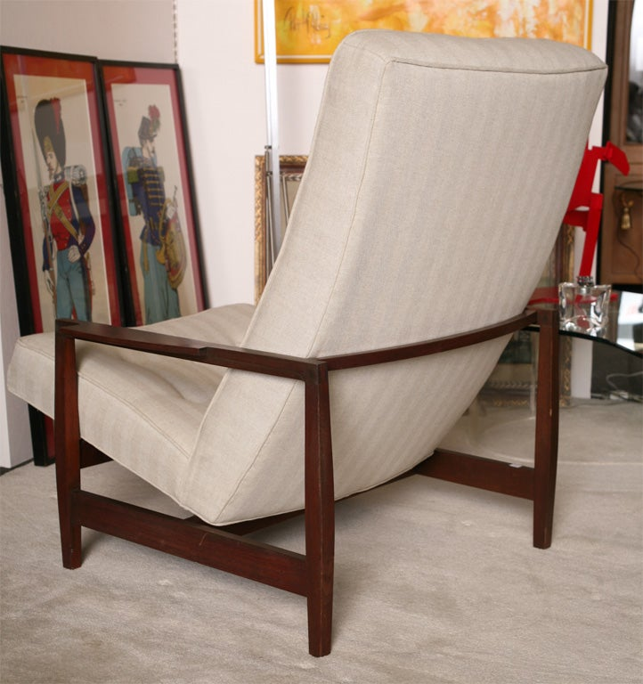 Danish Teak Chair with Ottoman 4