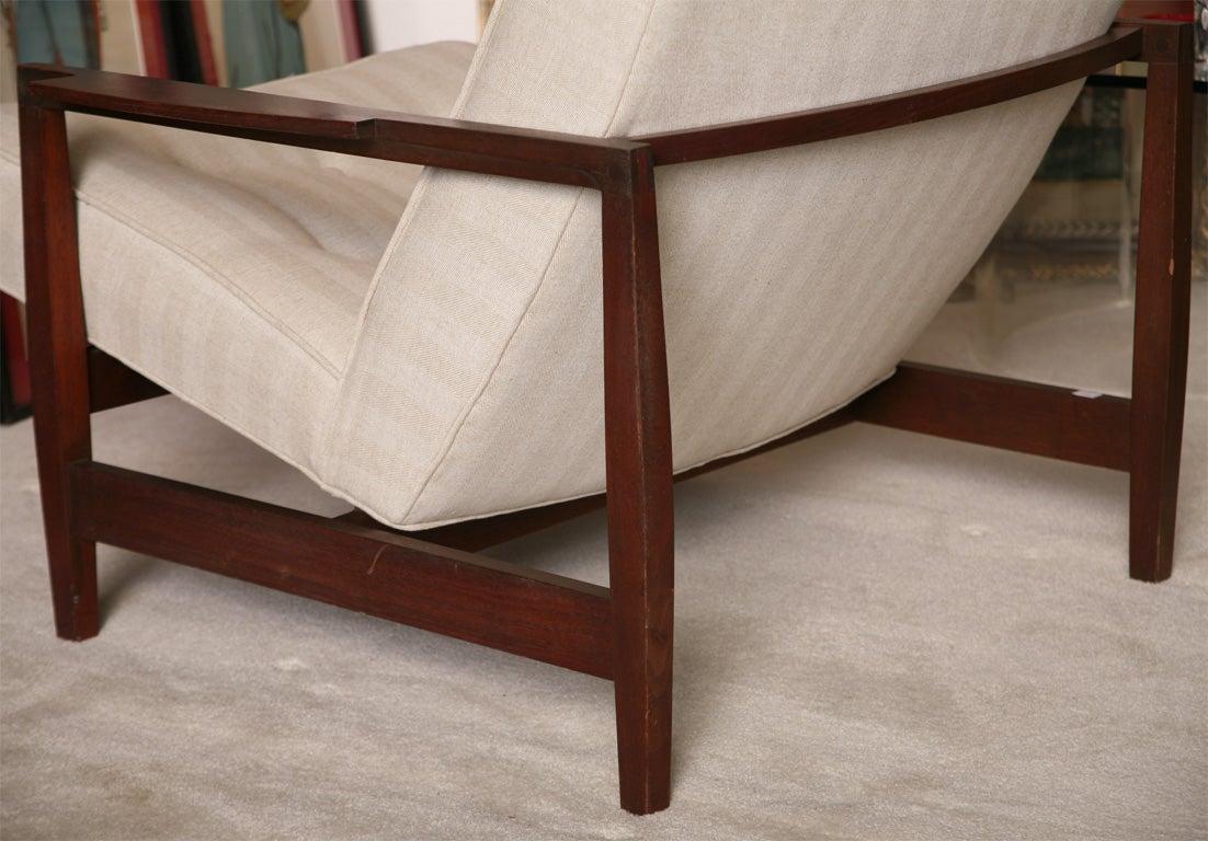 Danish Teak Chair with Ottoman 5