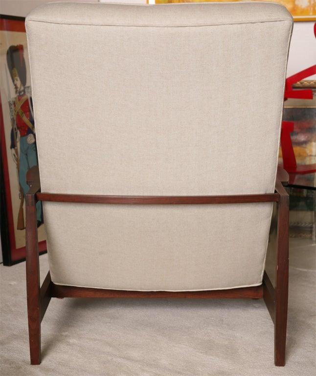 Danish Teak Chair with Ottoman 6