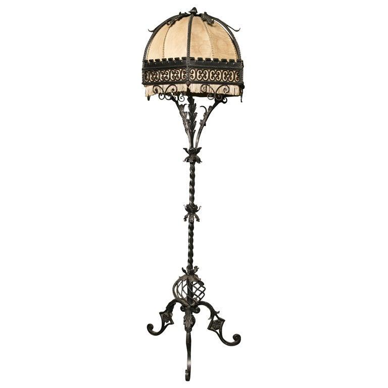 wrought iron floor lamp m906 at 1stdibs. Black Bedroom Furniture Sets. Home Design Ideas