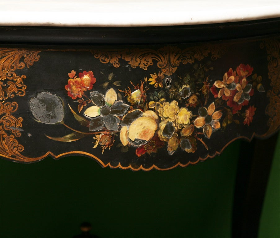19th Century English Victorian Mother of Pearl Inlaid Vanity Dressing Table image 7