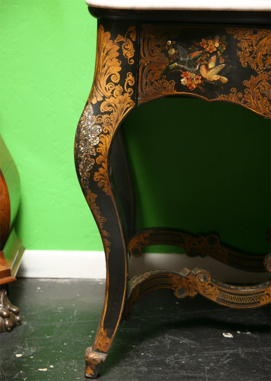 19th Century English Victorian Mother of Pearl Inlaid Vanity Dressing Table image 8