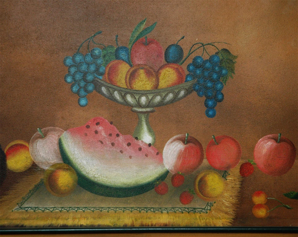 American 19th Century Still Life Painting In Good Condition For Sale In Southampton, NY