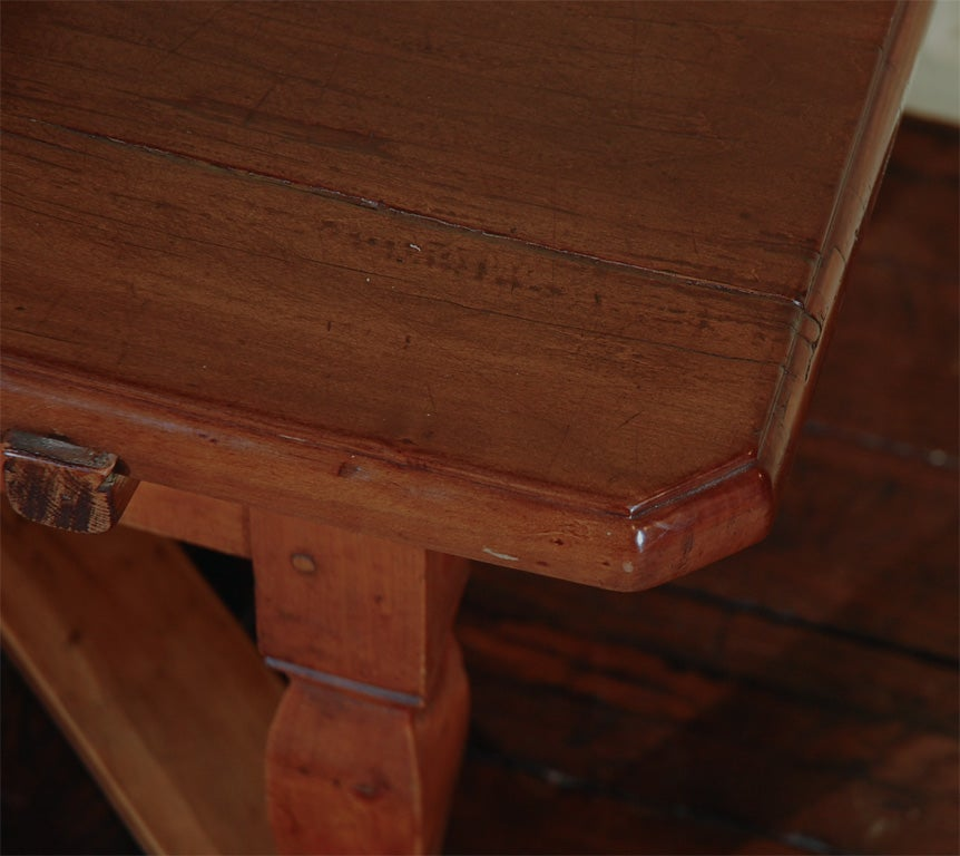 Fruitwood Farm Table Cut To Coffee Height At 1stdibs