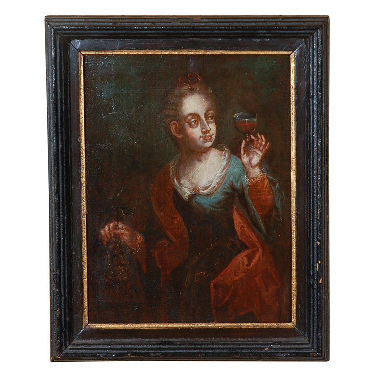 Flemish 17th Century Oil Painting On Board At 1stdibs