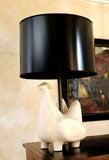 Jouve Style Italian Ceramic Bird Form Lamp image 2