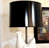 Jouve Style Italian Ceramic Bird Form Lamp image 9
