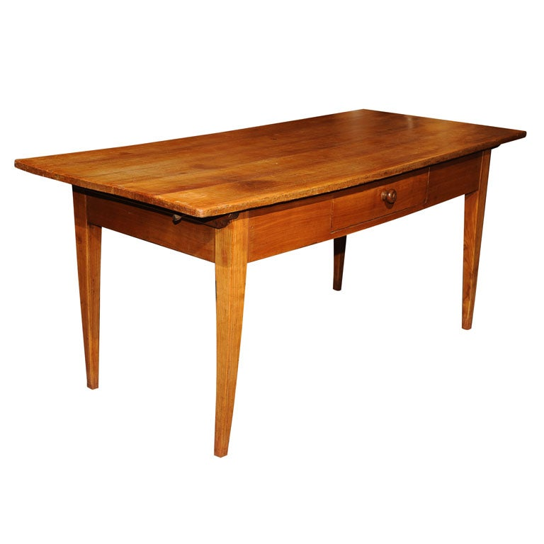 French Farm Table from Val de Loire in Wild Cherry wood 1