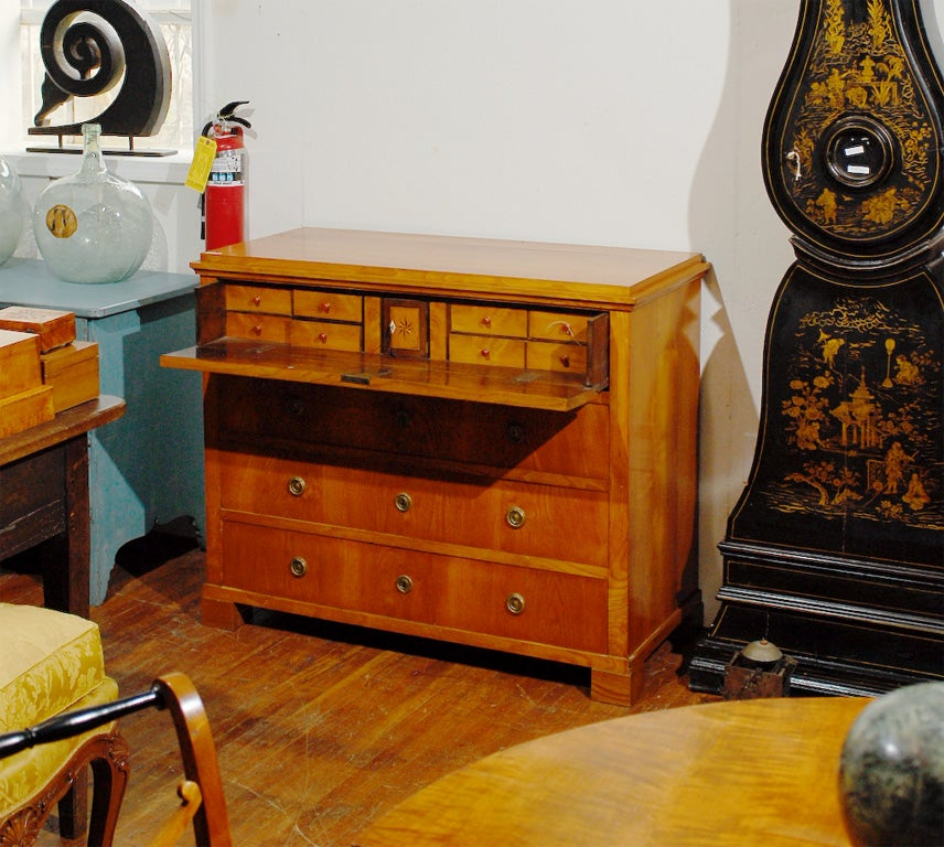 19th Century Swedish Period Karl Johan Butler's Desk In Good Condition For Sale In Atlanta, GA