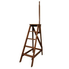 Wooden Library Ladder by Slingsby, England, Early 20th C.