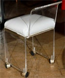 Lucite vanity chair with casters image 8