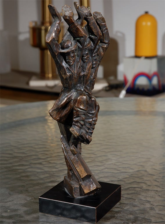 Bronze Baruch Saktsier bronze signed and numbered 4/9 For Sale