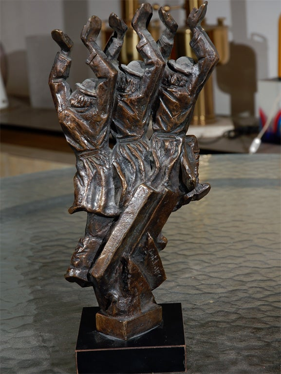 Baruch Saktsier bronze signed and numbered 4/9 For Sale 1
