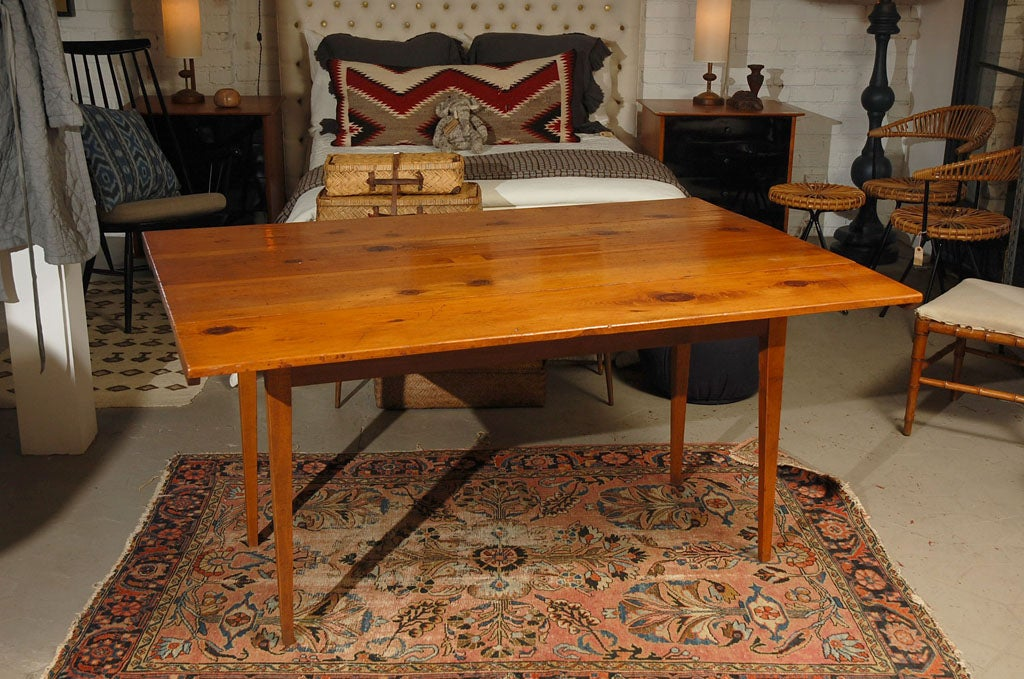 Rustic Shaker Style Folding Pine Dining Table Or Console