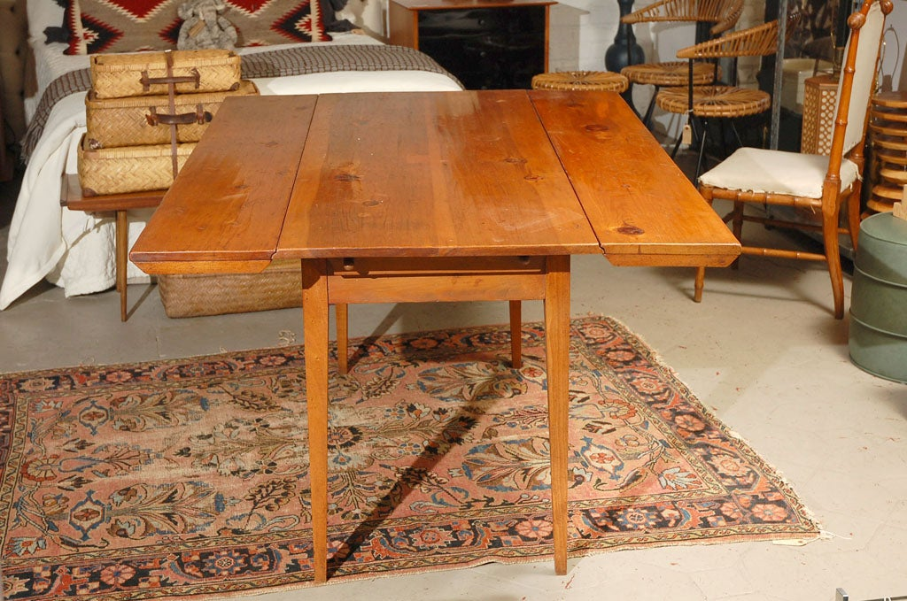 Rustic Shaker Style Folding Pine Dining Table Or Console Table Image 8
