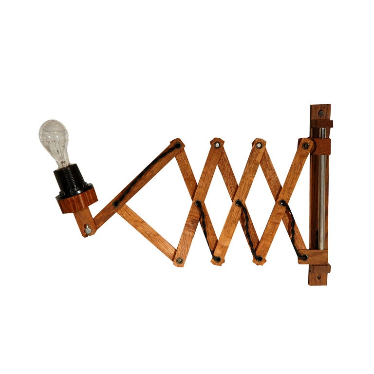Accordion Style Wall Sconce at 1stdibs