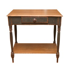 painted side table from Canada, with shelf