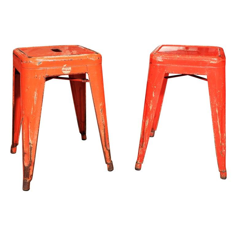 Pair Of Henri Julian Quot X Quot Stools At 1stdibs