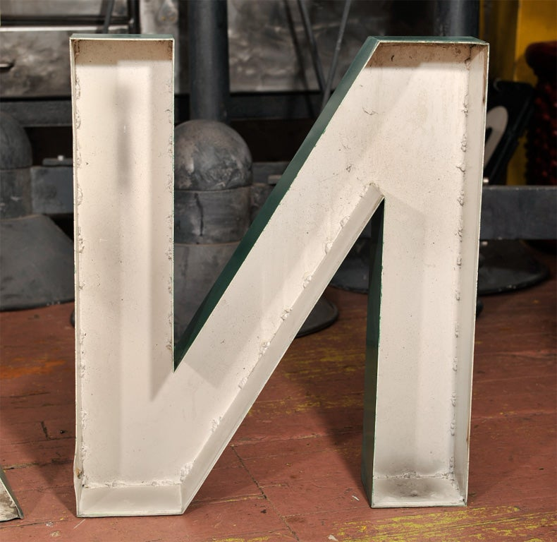 Vintage french letters n a g at 1stdibs for Furniture 5 letters