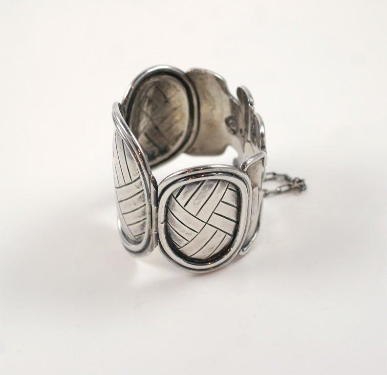 Mexican William Spratling Vintage Petate Bracelet For Sale