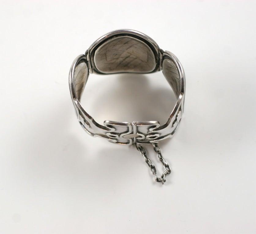 Silver William Spratling Vintage Petate Bracelet For Sale
