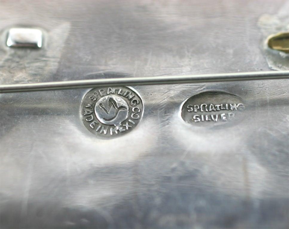 Silver William Spratling Petate Pin For Sale