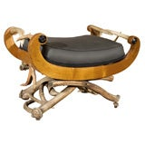 Antler Mounted Biedermier Bench