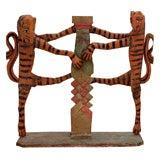 Polychrome Carved Wood Guatemalan Folk Art Sculpture