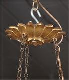 Antique Italian carved giltwood twelve light chandelier. image 2