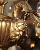 Antique Italian carved giltwood twelve light chandelier. image 5