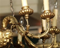 Antique Italian carved giltwood twelve light chandelier. image 6