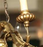 Antique Italian carved giltwood twelve light chandelier. image 7