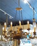 Antique Italian carved giltwood twelve light chandelier. image 10