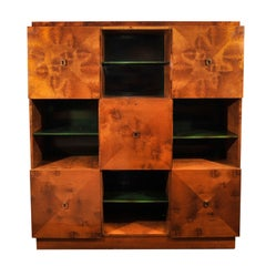 TAPP CABINET WITH BOOKSHELVES AND SECRETARY
