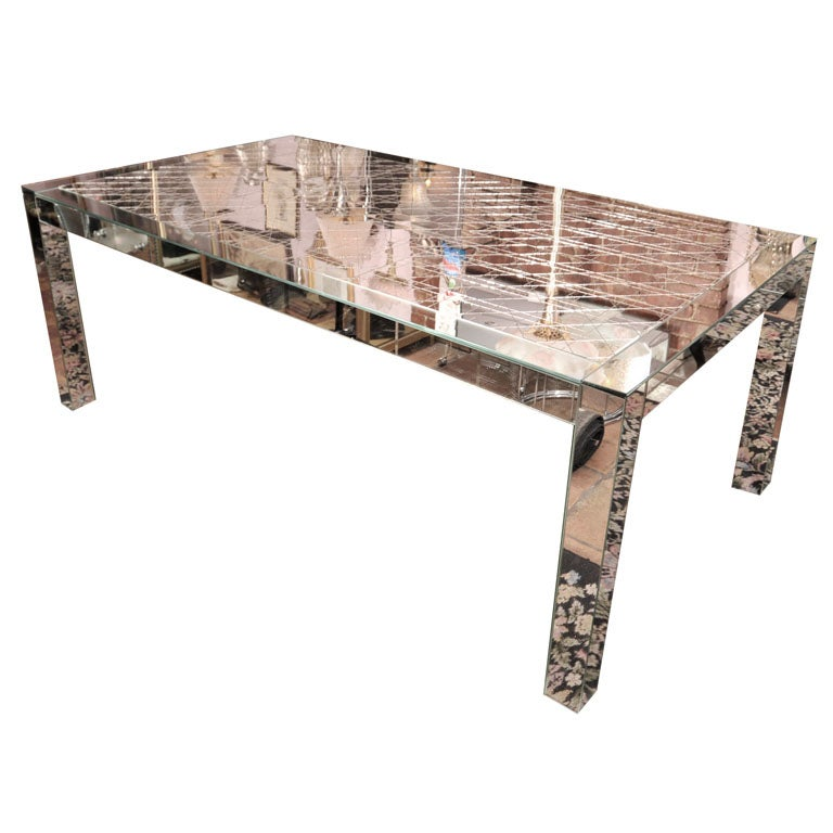 French Mirrored Dining Table 1